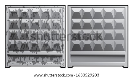 block of concrete gray fence