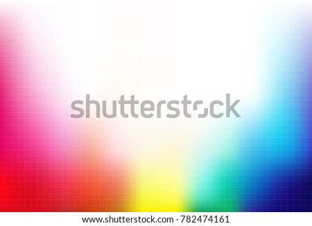 block pattern rainbow colorful