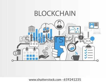 blockchain vector background