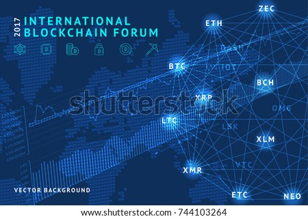 blockchain vector illustration