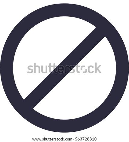 Blocked Vector Icon