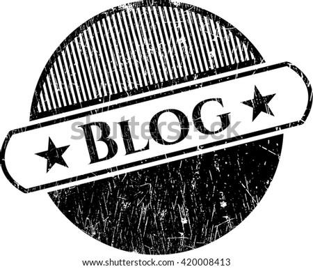 Blog grunge seal