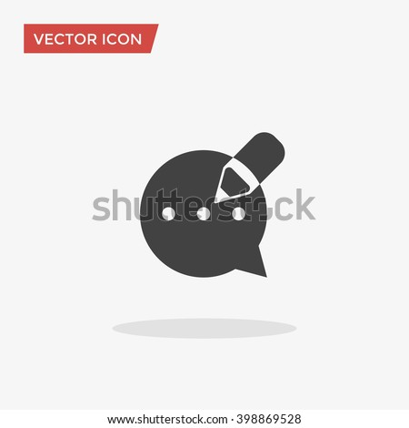 Blog Icon in trendy flat style isolated on grey background. Blogging symbol for your web site design, logo, app, UI. Vector illustration, EPS10.