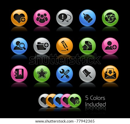 Blog & Internet Icons // Gelcolor Series -------It includes 5 color versions for each icon in different layers ---------