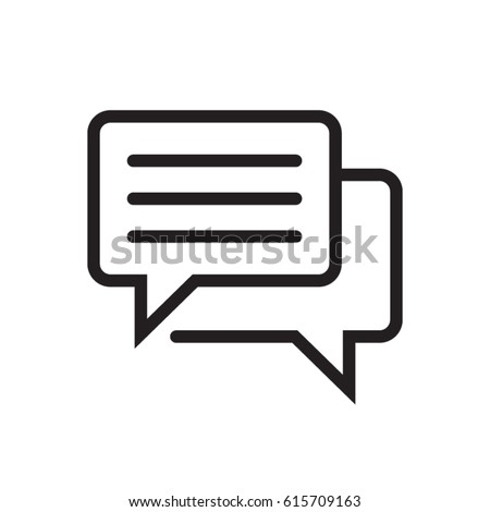 Blog, message speech balloon line flat vector icon for mobile application, button and website design. Illustration isolated on white background. EPS 10 design, logo, app, infographic.