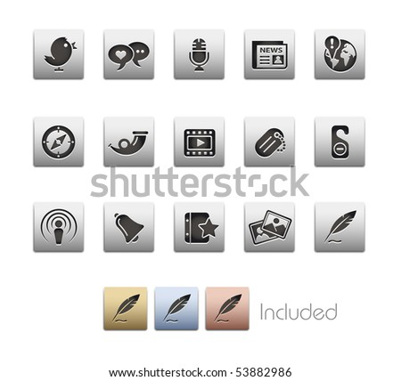 Blog & New Media // Metallic Series - It includes 4 color versions for each icon in a different layer.