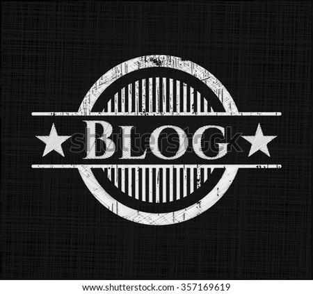 Blog on chalkboard
