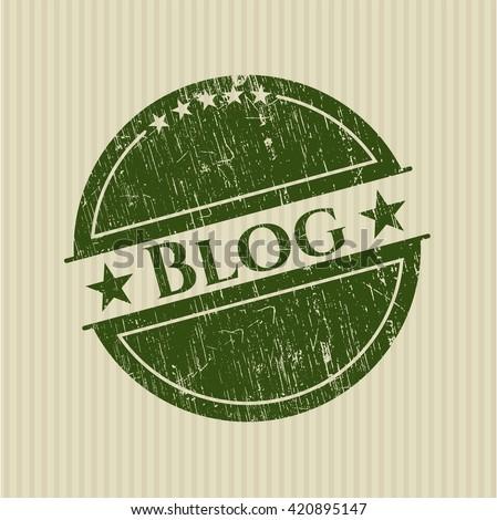 Blog rubber grunge stamp