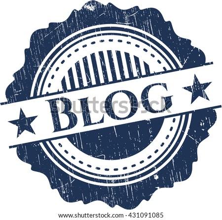 Blog rubber grunge texture stamp