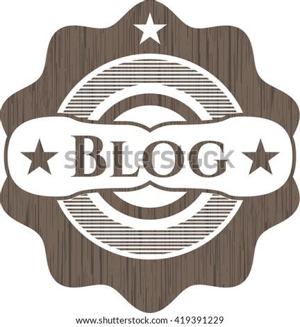 Blog vintage wooden emblem