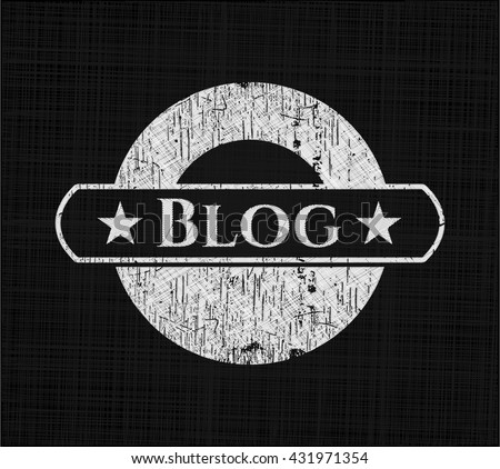 Blog with chalkboard texture