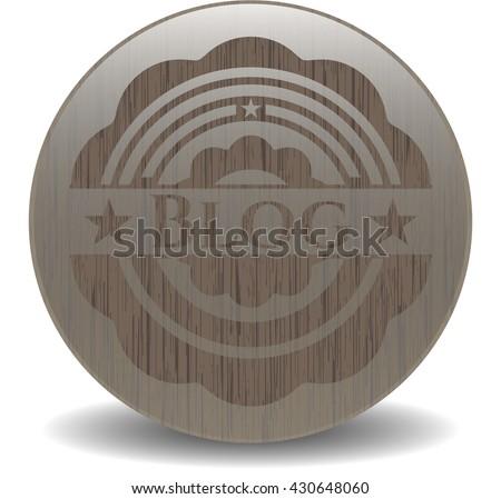 Blog wooden emblem. Vintage.