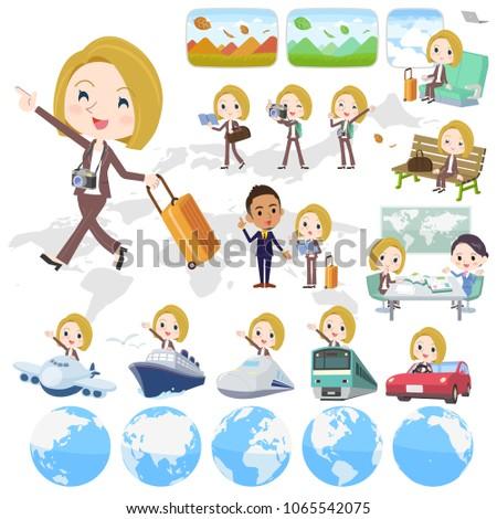 blond hair business women_travel