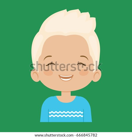 blond little boy laughing
