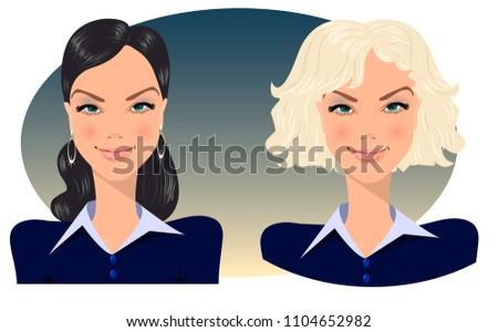 blonde and brunette  manager