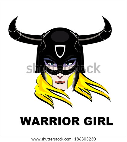 blonde warrior girl