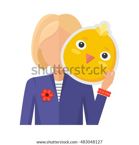 blonde woman character in suit