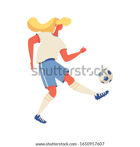 blonde woman playing with ball