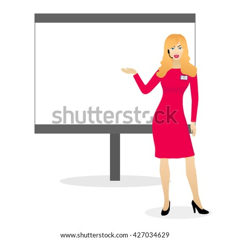 blonde woman speaker with
