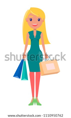 blonde woman with heavy bags