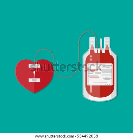 blood bag and heart blood