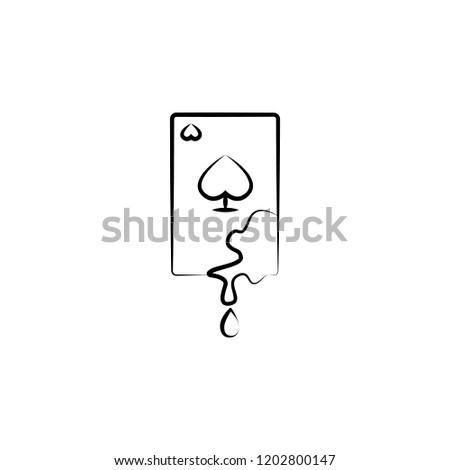 blood card  gambling icon