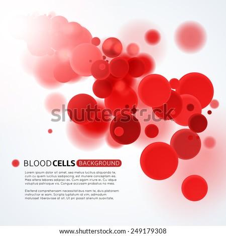 blood cells medical background