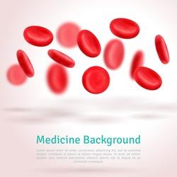 Blood cells. Medical background. Vector illustration.