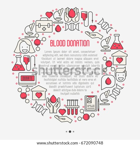 blood donation concept in