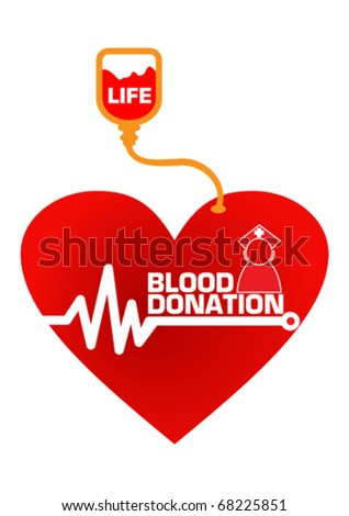 Blood Donation Save Life Concept Illustration in Vector