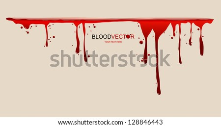 blood dripping  illustration by