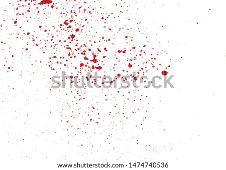 Blood drops and splatters isolated on white background. Halloween bloody background. Vector illustration EPS 8.
