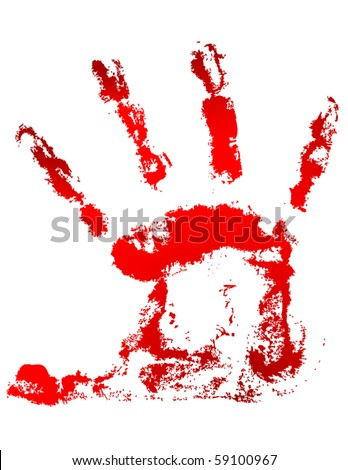 Blood handprint