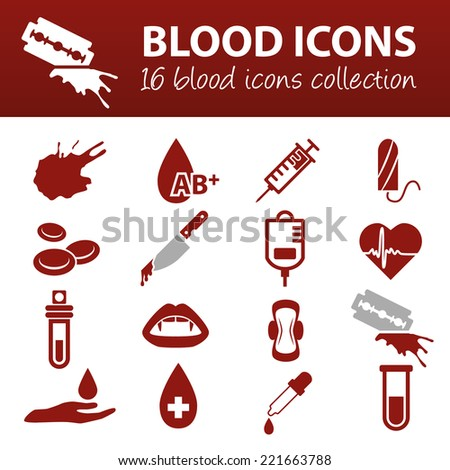 blood icons