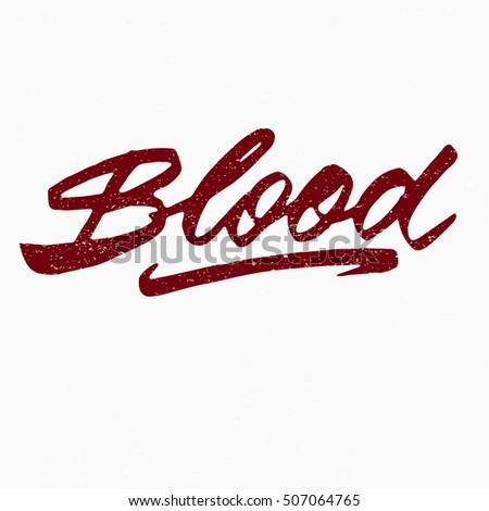 blood ink hand lettering
