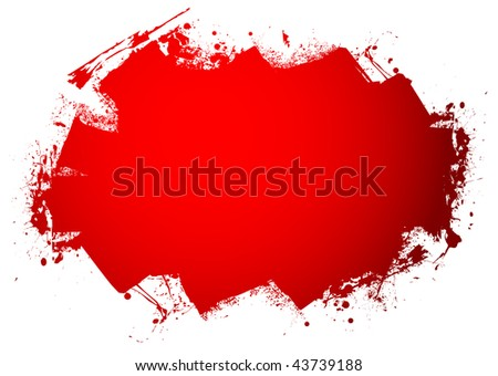 Blood red roller marks with room to add your text