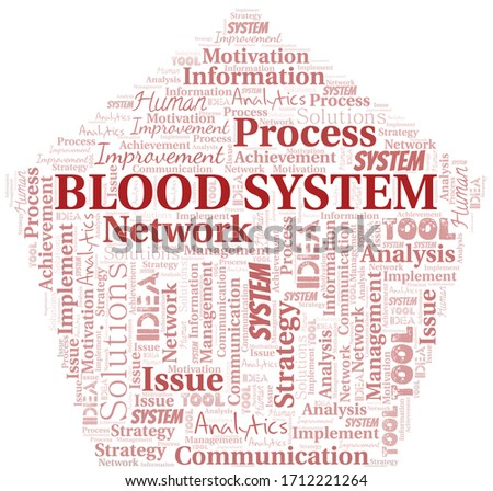 blood system typography vector