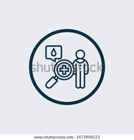 Blood test icon isolated on white background. Blood test icon simple sign. Blood test icon trendy and modern symbol for graphic and web design. Blood test icon flat vector illustration for logo, web,