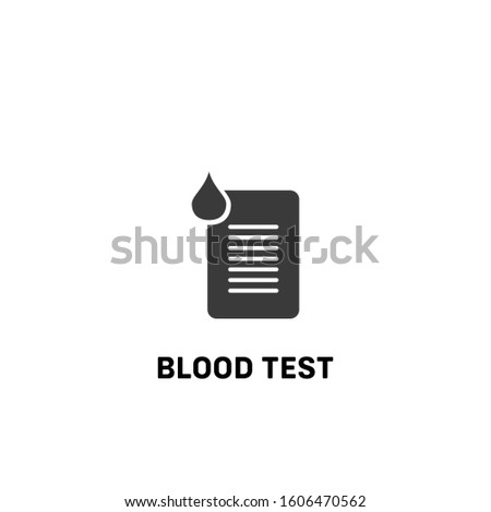 blood test icon vector. blood test sign on white background. blood test icon for web and app
