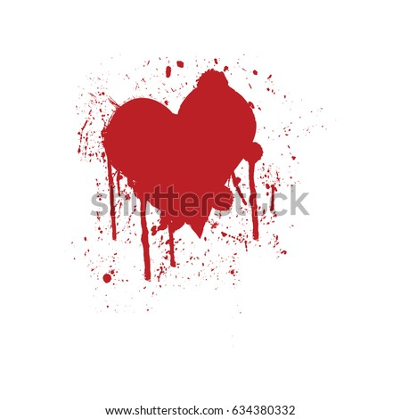 bloody dripping heart vector