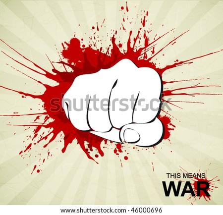 bloody fist poster stock vector illustration 46000696