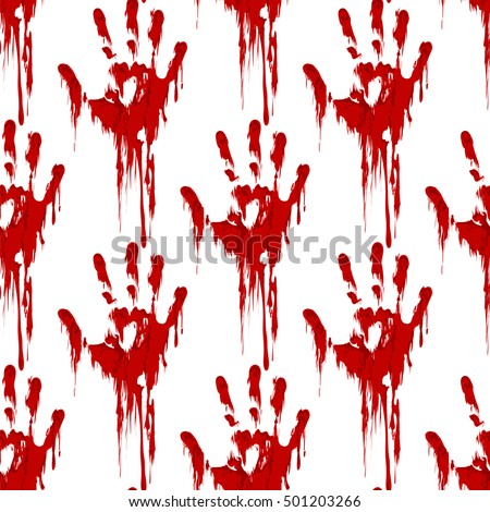 bloody hand print seamless