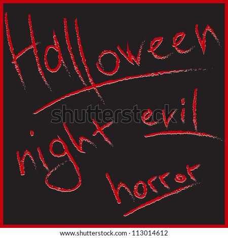 Bloody letters for Halloween design. Hand drawing sketch vector illustration - stock vector