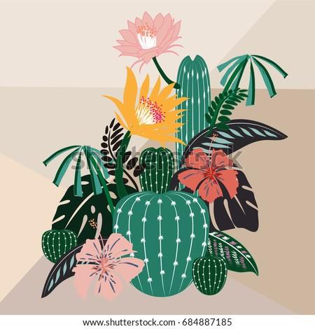 blooming cactus botanical