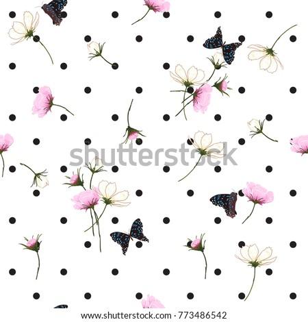 blooming wild flowers seamless