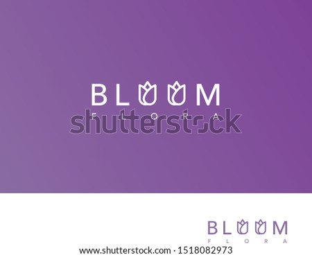 Blooms Flora Logo for an Exotic Floral Business