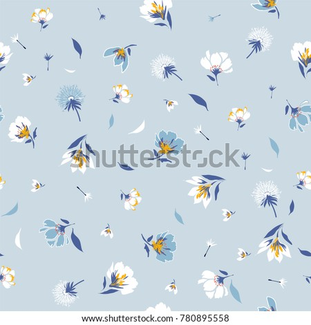 blossom  floral pattern in the...