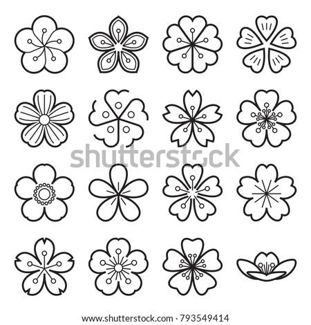 blossom icons sakura icons