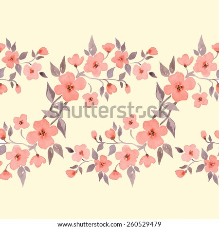 blossom watercolor floral