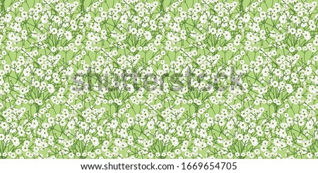 blossoming white small flowers